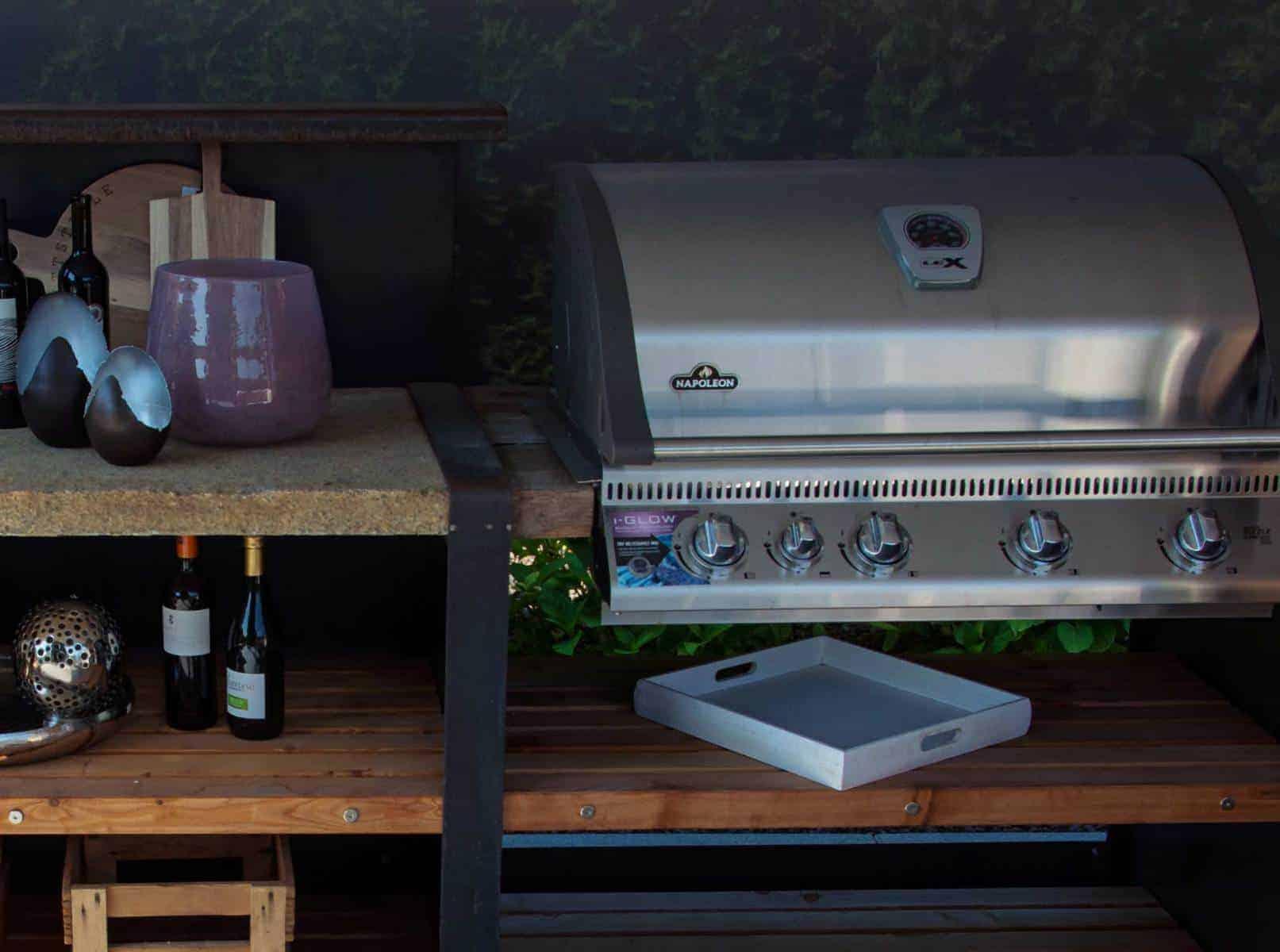 Outdoor Küche Beispeil Holz