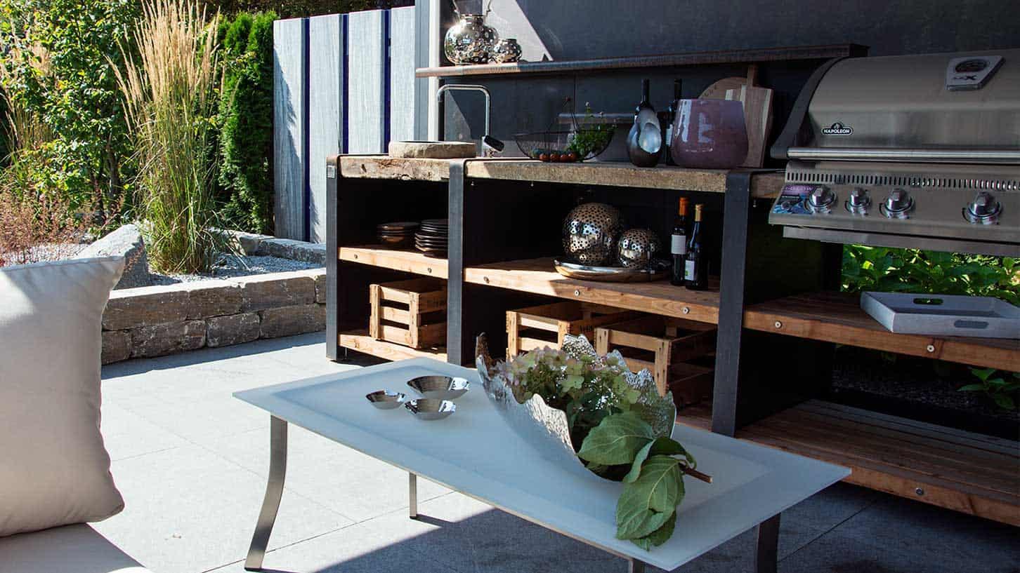 Küche im Garten